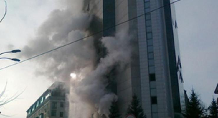 В Киеве загорелась налоговая