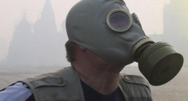 В Киеве стоит запах гари