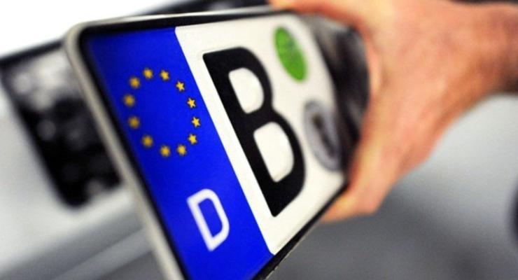 За нерастаможенные авто хотят взимать плату 10 евро