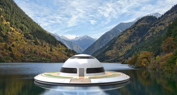 В Италии представили проект плавающего дома-НЛО