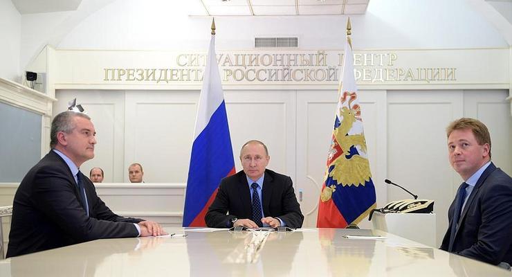 Путин пустил газ в оккупированный Крым