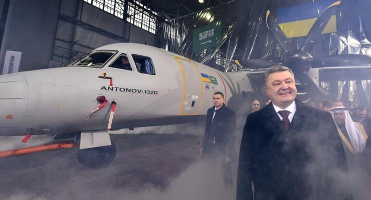 Порошенко поддержал украинское самолетостроение
