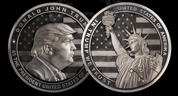 В России выпустили монету с Дональдом Трампом