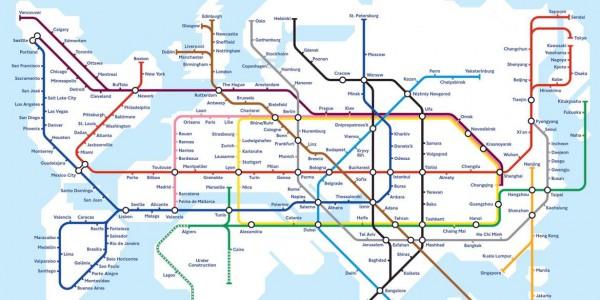 План-схема глобального метро, которую в 2003 году создал Марк Овенден