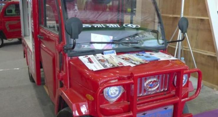 Китайцы презентовали самый маленький пожарный автомобиль