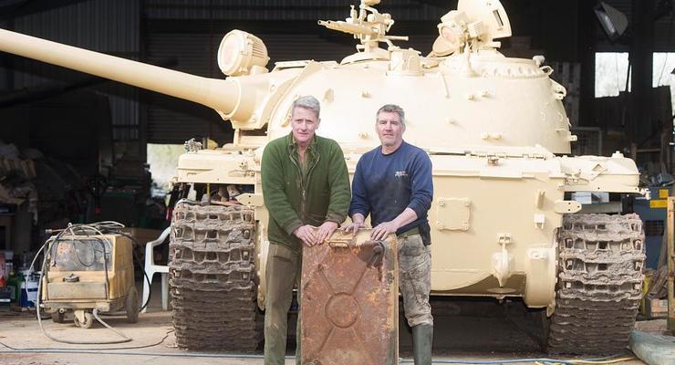 В Англии в танке обнаружили золото на миллионы долларов
