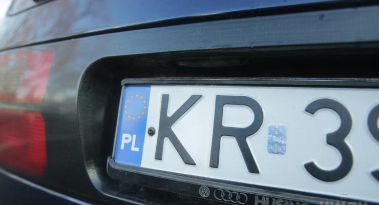 Украину наполнили незаконные авто на иностранных номерах