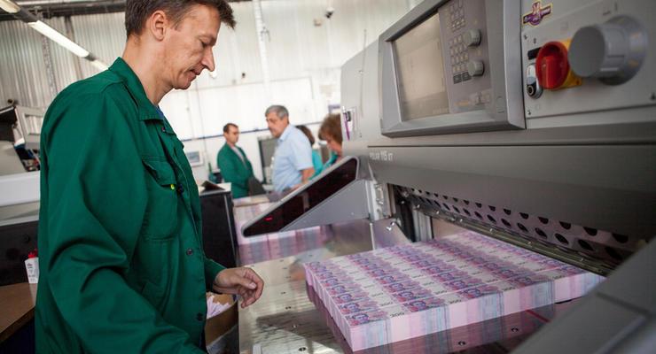 Нацбанк потратил 1,3 миллиона гривен на печать новых денег