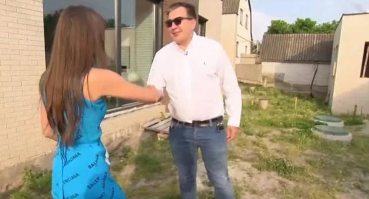 Саакашвили показал свой собственный дом под Киевом