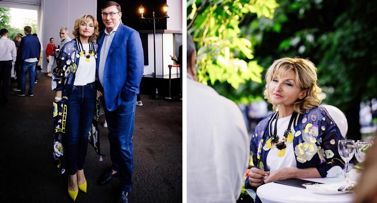 Ирина Луценко вышла в свет в накидке за 128 тысяч гривен