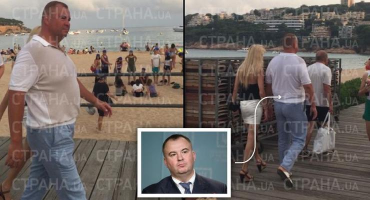 СМИ показали, как скандальный Свинарчук с блондинкой отдыхает в Испании