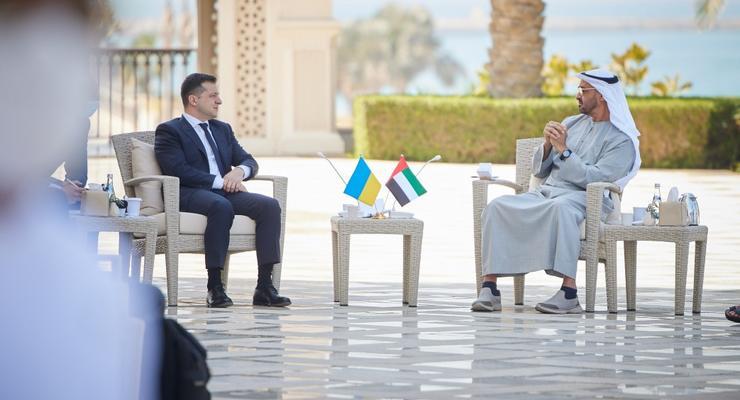 Владимир Зеленский подписал с ОАЭ контарктов на 3 млрд долларов
