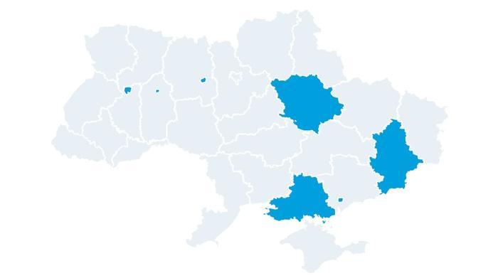 Регионы, где газ поставляет ПОН
